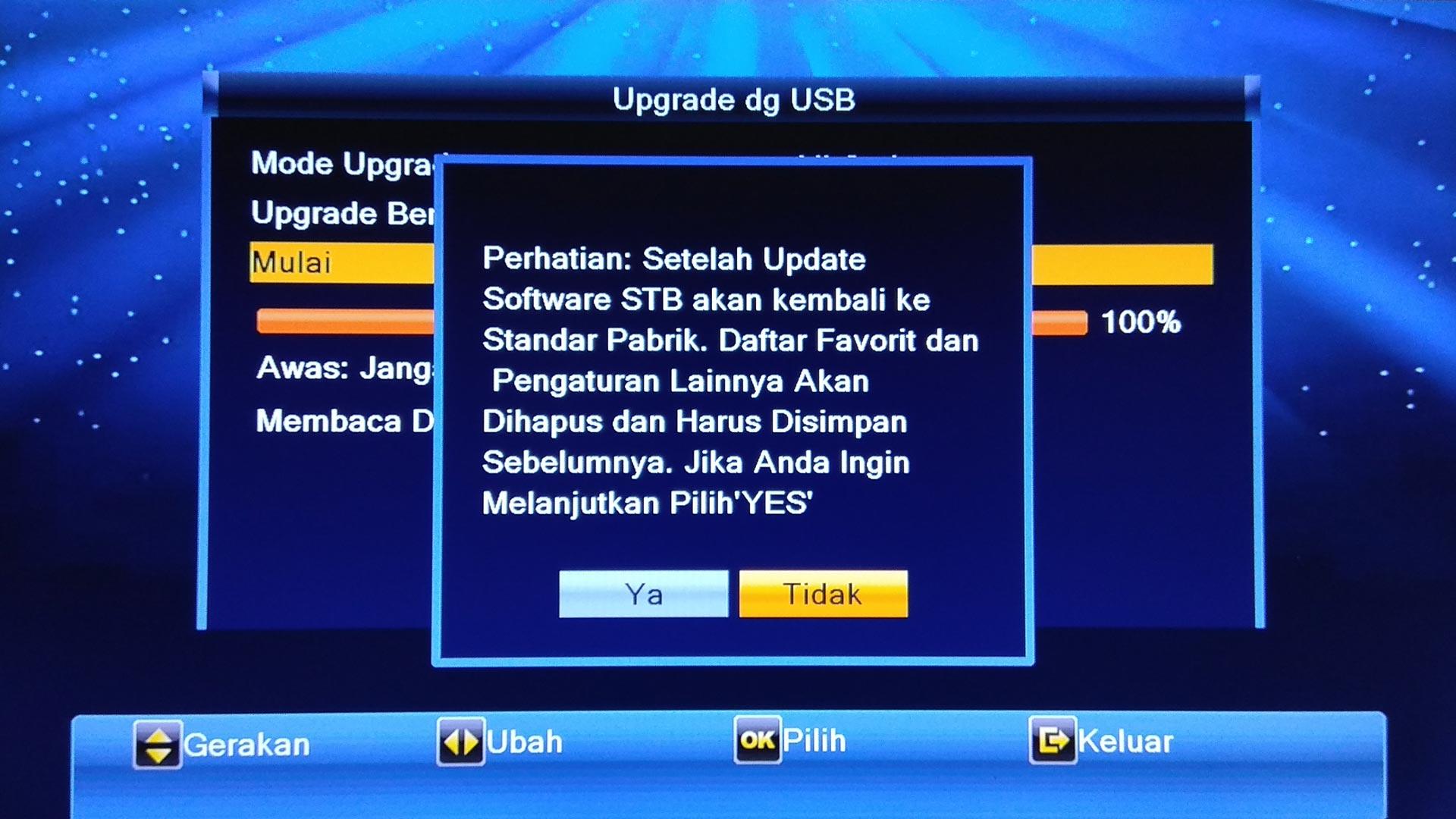 Cara Upgrade Decoder Goldsat Lily HD