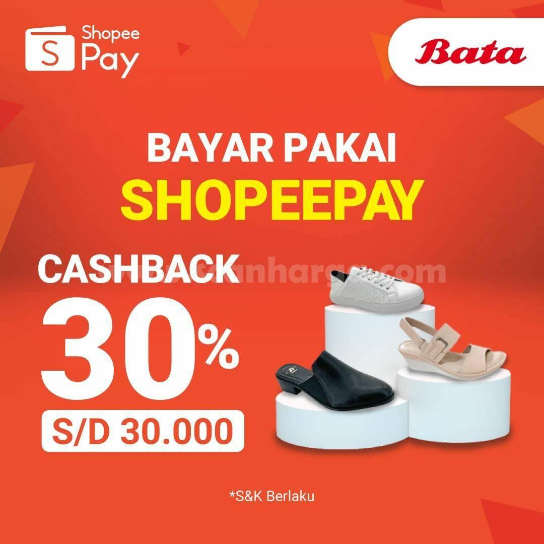 BATA Promo CASHBACK 30% bayar pakai ShopeePay