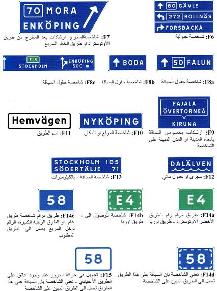 شاخصات التوجيه للطرق 2020-Route signage