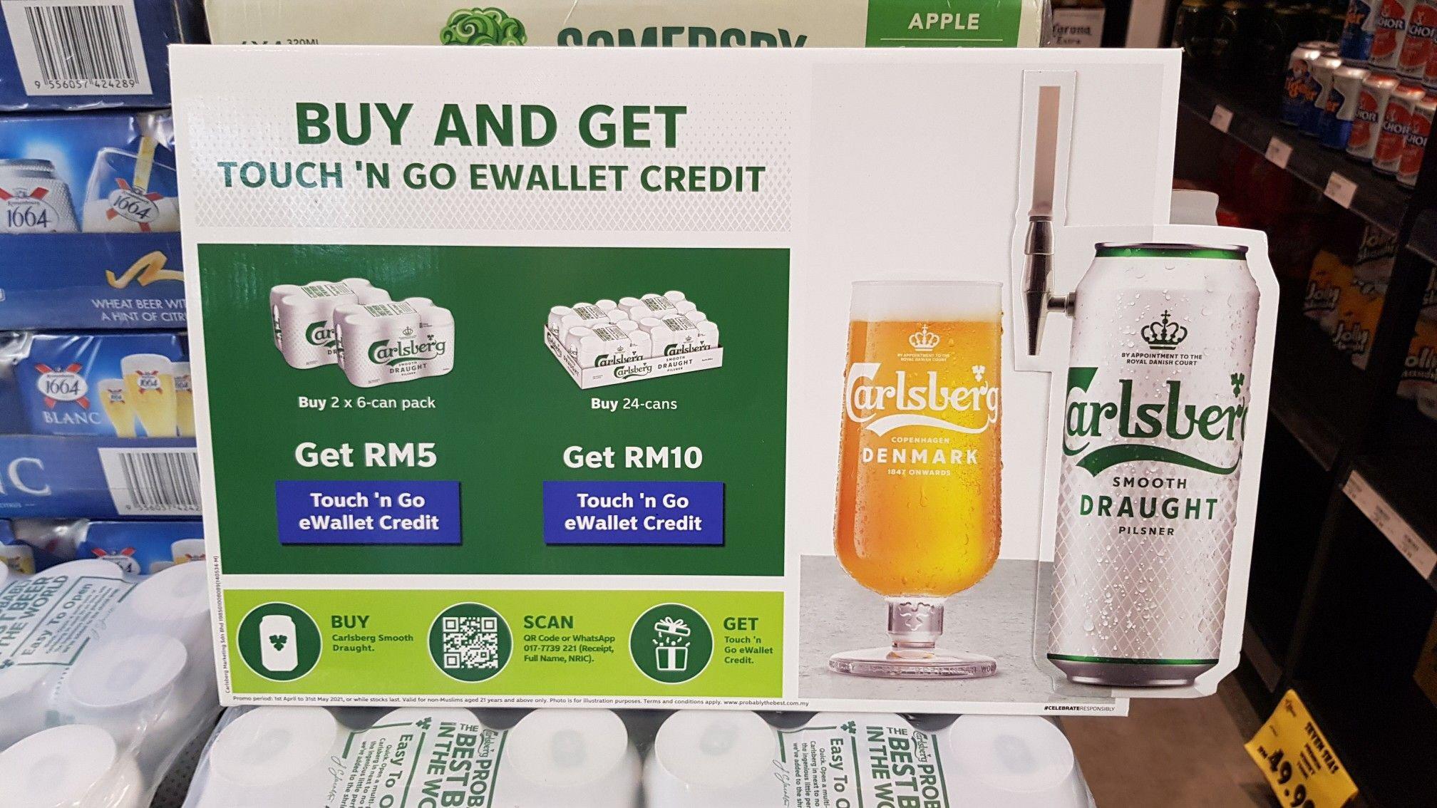 Carlsberg: Buy & Get E-Wallet Credit