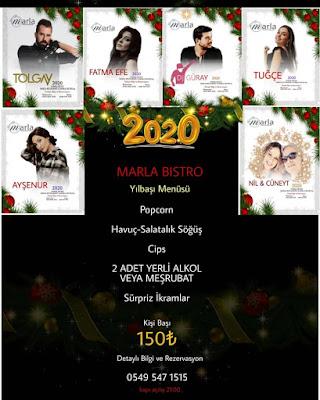 Marla Restaurant Denizli Yılbaşı Programı 2020