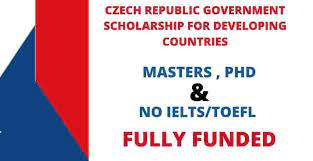 CZECH REPUBLIC GOVERNMENT SCHOLARSHIP FOR DEVELOPING COUNTRIES