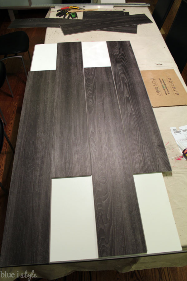 Diy With Style Diy Wood Plank Laundry Room Countertop Blue I