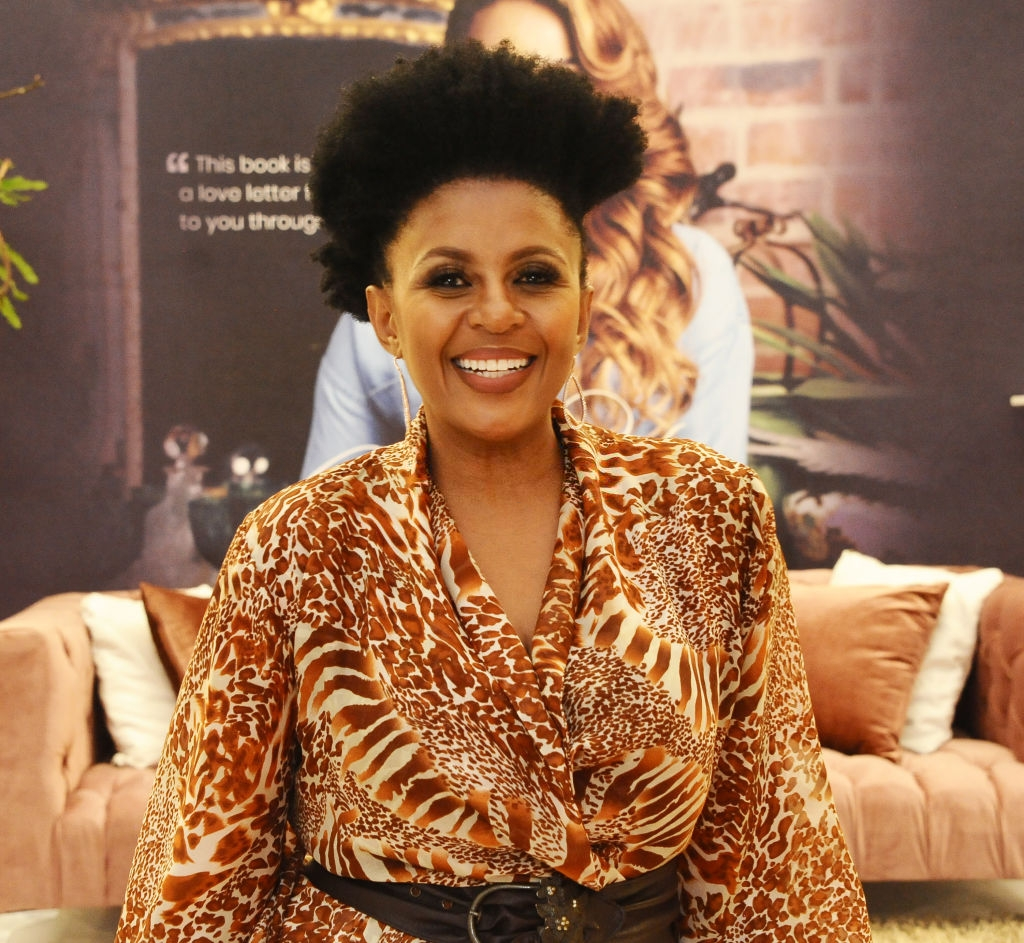 Basetsana Kumalo during Lorna's Cookbook launch at Sandton City's Diamond Walk on October 16, 2019 in Sandton, South Africa. The Television host and celebrity chef's new cook is titled: Celebrate with Lorna. (Photo by Oupa Bopape/Gallo Images via Getty Images)