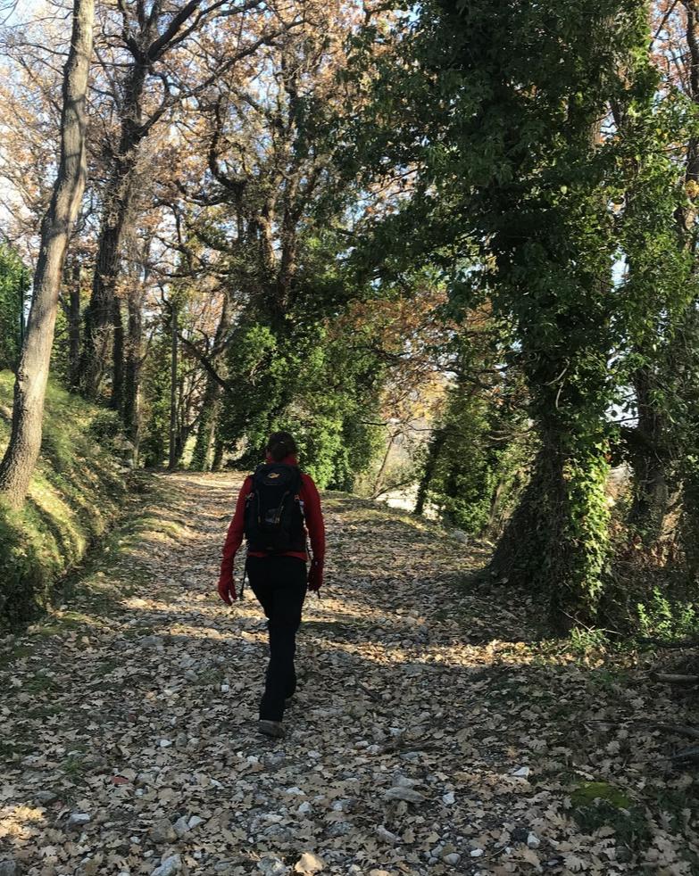 Ascending along Circuit du Malvan trail