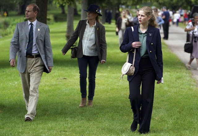 Queen Elizabeth, The Earl and Countess of Wessex and their daughter Lady Louise