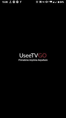 Tampilan awal aplikasi UseeTV Go