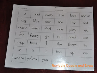 Print out sight words for magnetic sight words