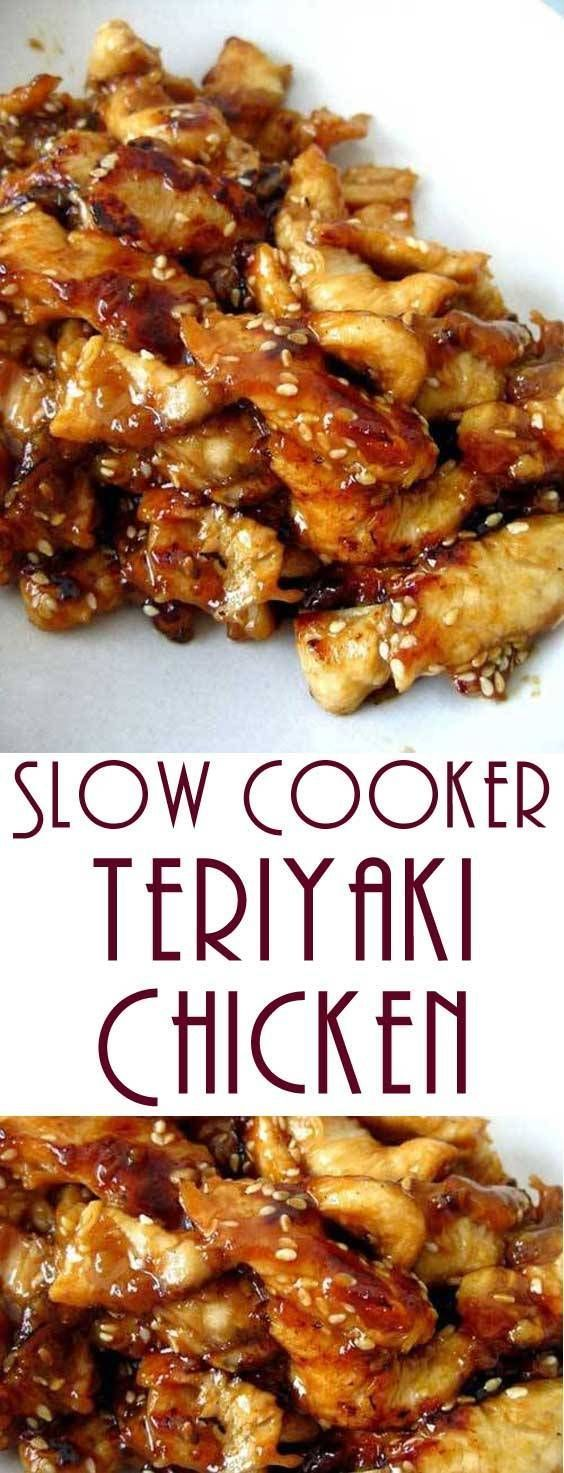 Slow Cooker Teriyaki Chicken #SlowCooker #Teriyaki #Chicken #SlowCookerTeriyakiChicken #dinner