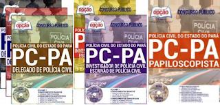 apostilas Concurso Polícia Civil-PA (PCPA), Delegado, Investigador / Escrivão e Papiloscopista