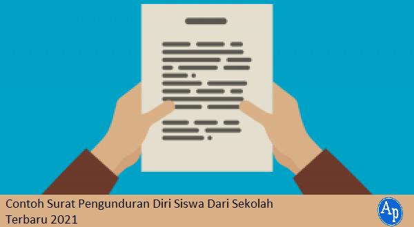 Contoh surat pengunduran diri siswa dari sekolah