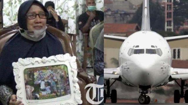 3 Anak Cucunya Jadi Penumpang Sriwijaya Air SJ 182, Ibu Ini Menangis Berharap Keajaiban Datang