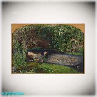 Πίνακας ζωγραφικής του Βρετανού Sir John Everett Millais (Οφηλία)