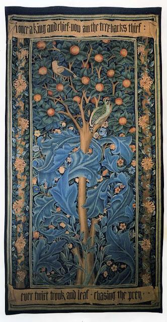 Style Imitating Art:  Inspiration Woodpecker Tapestry~William Morris