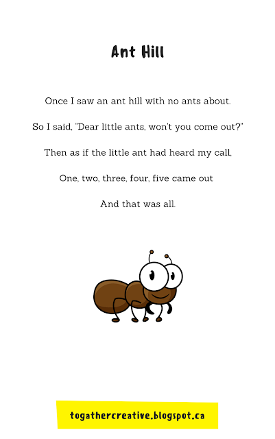 The Ant Chant ~ Songs and Finger Plays for Circle Time