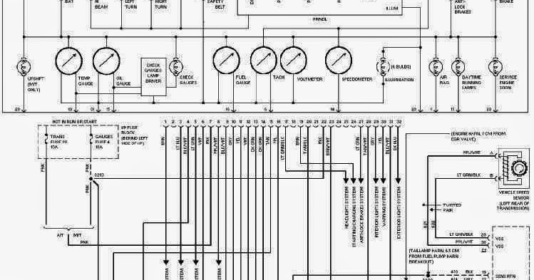 1994 chevy s10 instrument cluster wiring diagram 95 chevy truck instrument cluster wiring diagram #15