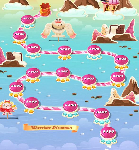 Candy Crush Saga level 8496-8510
