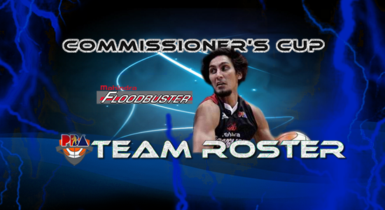 List of Mahindra Floodbuster Roster (Lineup) 2017 PBA Commissioner's Cup