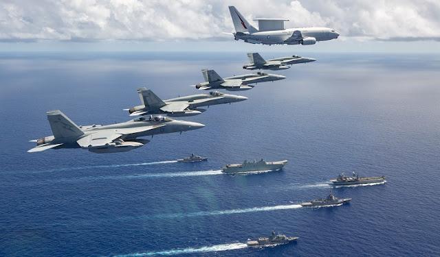 5 Kapal Perang Australia Tantang Cina di Laut Cina Selatan