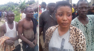 Alfa Caught While Trying To Use This Lady For Rituals In Lagos