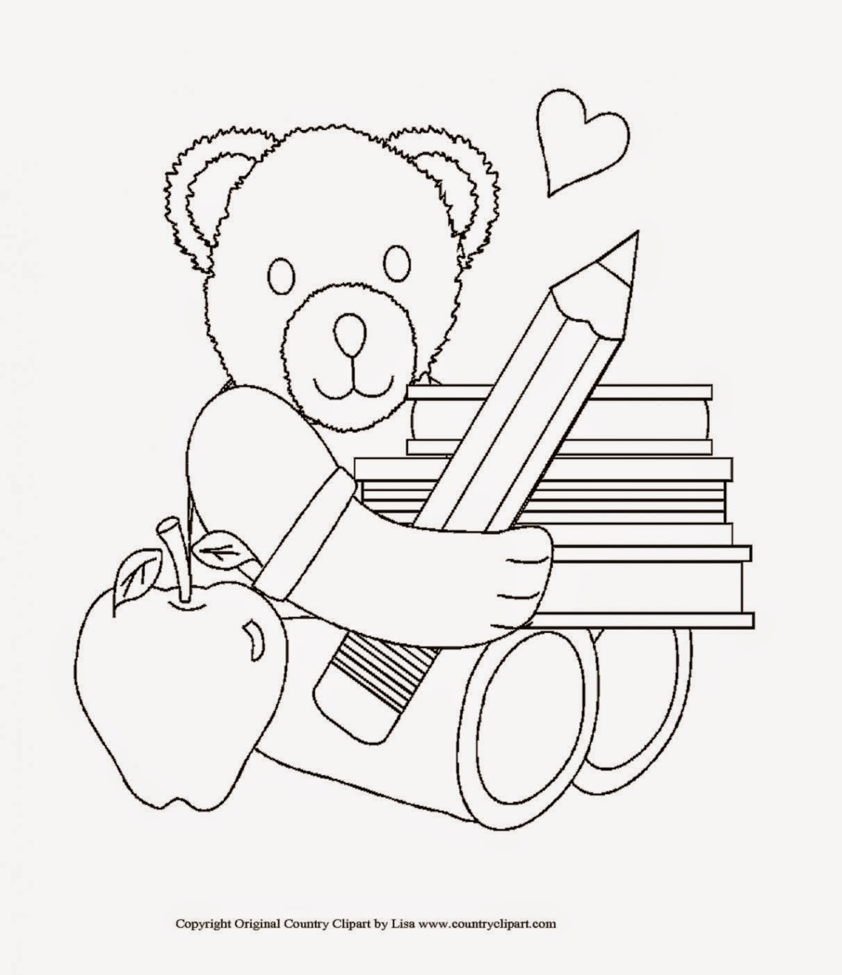 free coloring pages school days - photo#24