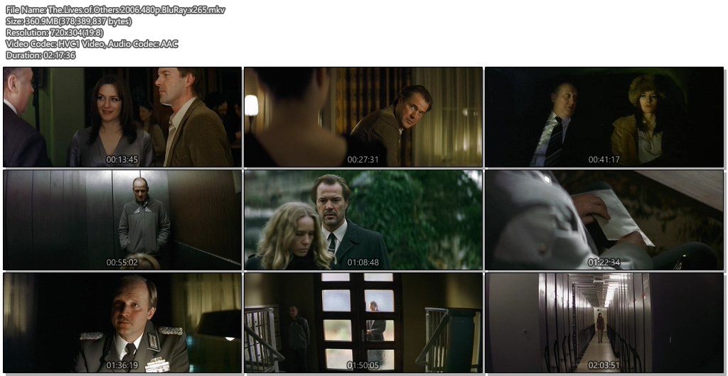 The Lives of Others 2006 BluRay 480p 360MB x265 Movie Screenshots