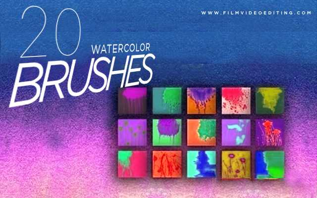 Best Watercolor Brushes Photoshop