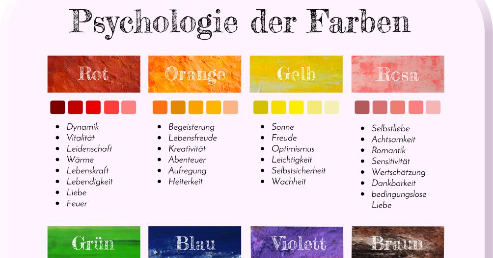 infografik psychologie der farben. Black Bedroom Furniture Sets. Home Design Ideas