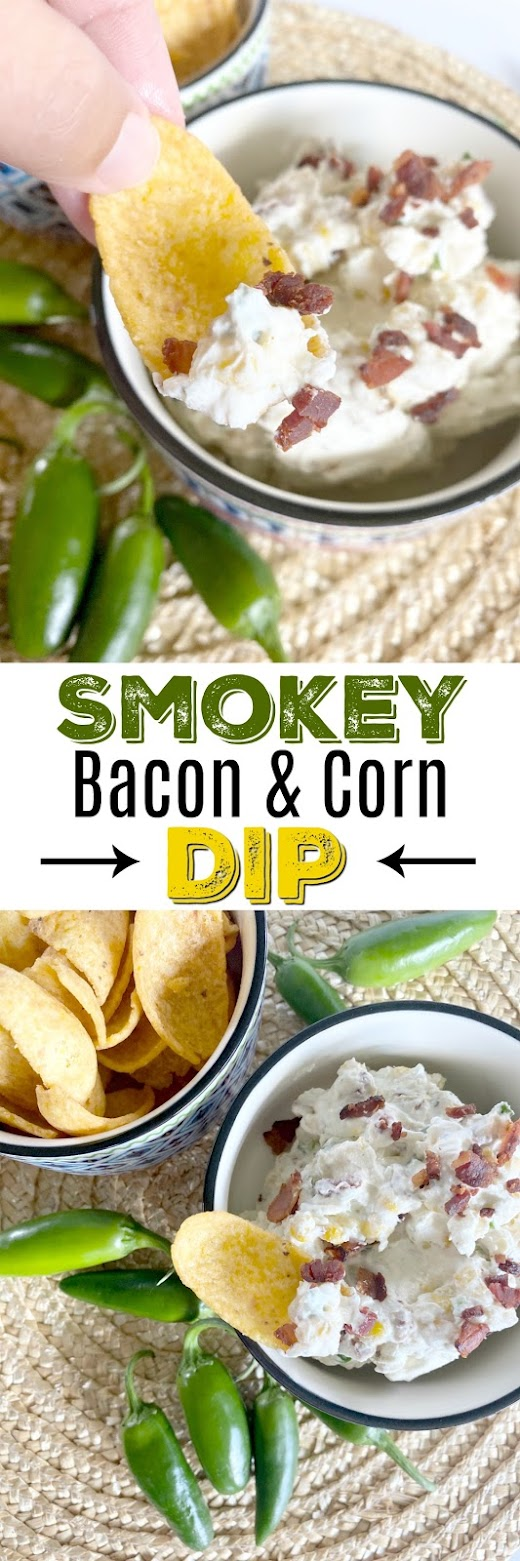 Smokey Bacon & Corn Dip #dip #poolside #sweetsavoryeats