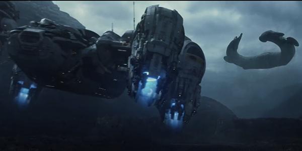 Alien – Covenant (2017) | Prometheus indo derrubar a nave de engenheiro | Blog #tas