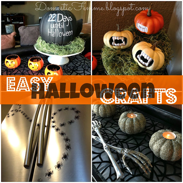 Easy DIY Halloween Crafts #Decorations #Ideas #Cheap #Projects #Tutorials #Tutorial #Less #Indoor #Countdown #Days #Until #Fangs #Fanged #Vampire #Plastic #Teeth #Chalkboard #Paint #Glitter #Glittered #Glittery #Candle #Holders #Mini #Baby #Pumpkin #Pumpkins #Spiders #Spider #Fridge #Refrigerator #Magnet #Magnets #Ring #Rings