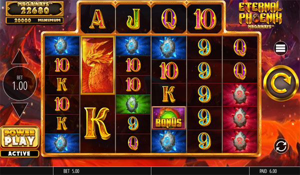 Main Gratis Slot Indonesia - Eternal Phoenix Megaways (Blueprint Gaming)