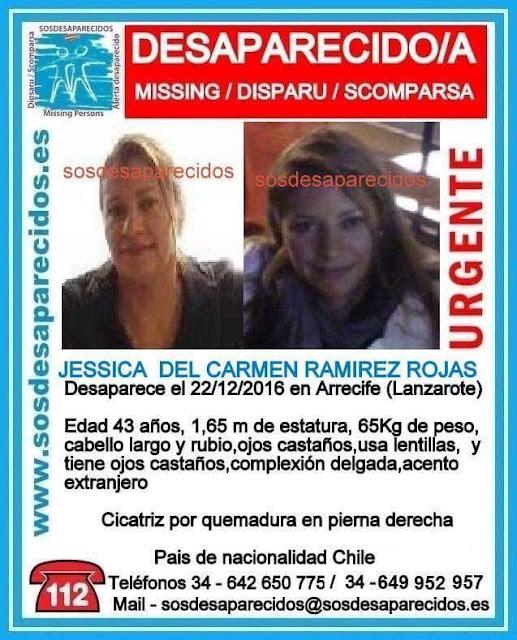 Jessica del Carmen Ramirez Rojas, mujer desaparecida en Arrecife de Lanzarote