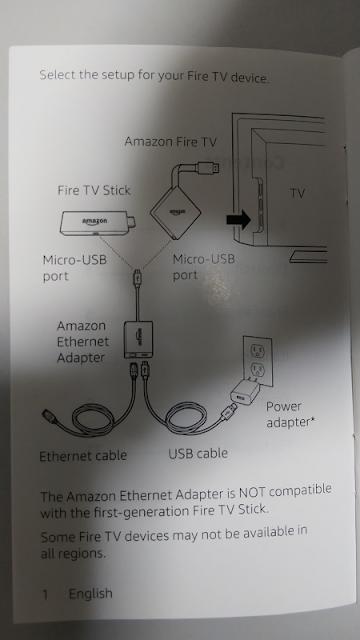 Fire TV stick有線LAN接続全体図