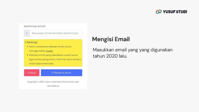 Email KIP Kuliah 2021