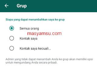 Whatsapp baru - baru ini telah memberikan fitur privasi baru. Fitu itu adalah menolak atau menerima undangan masuk grup, fitu ini hanya tersedia pada whatsapp versi terbaru v.2.19.308. Berikut penjelasan cara menggunakan fitur privasi terbaru whatsapp tersebut.