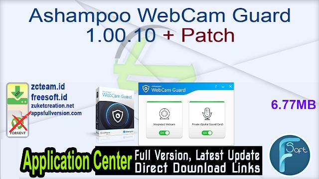 Ashampoo WebCam Guard 1.00.10 + Patch_ ZcTeam.id