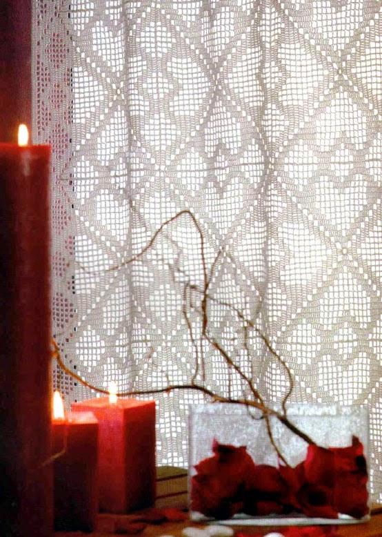 Delicadezas en crochet Gabriela: 10 Moldes de cortinas en crochet
