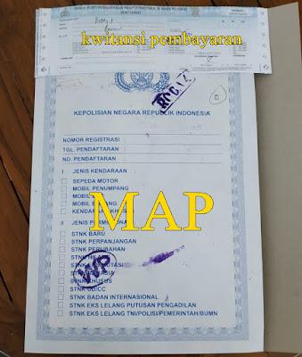 Kwitansi pembayaran dan Map