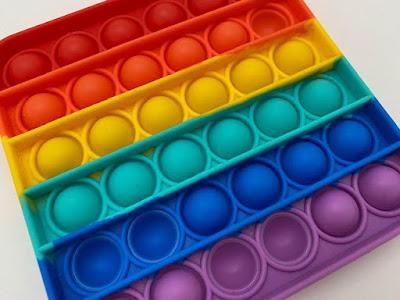 Pop It fidget toy rainbow square