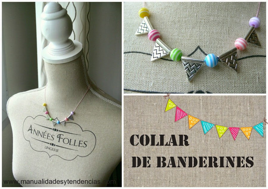 Collar de banderines DIY