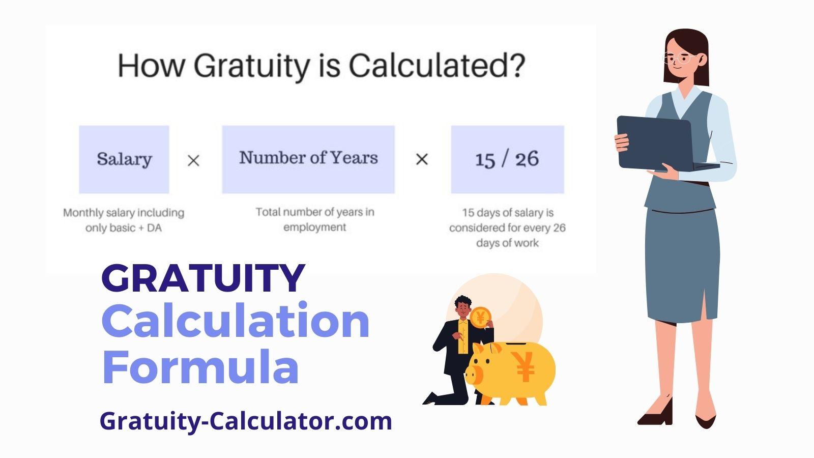 Gratuity Calculator Formula