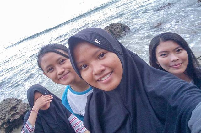 girls in beach