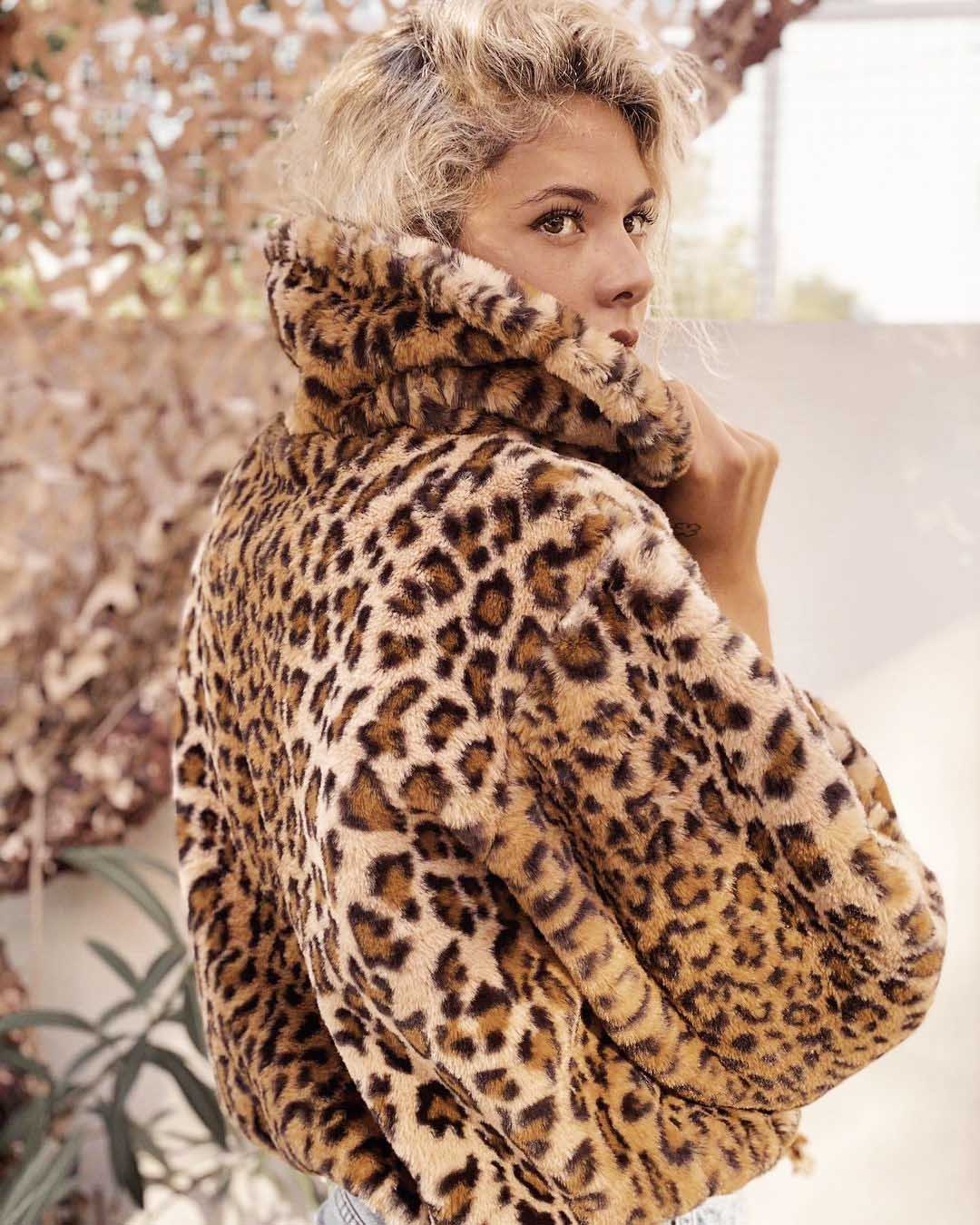 campera saco corto animal print aterciopelado invierno 2021 moda mujer