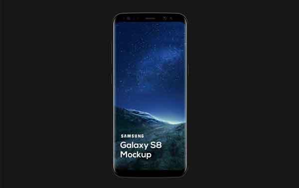 Free Samsung Galaxy S8 Mockup (PSD)