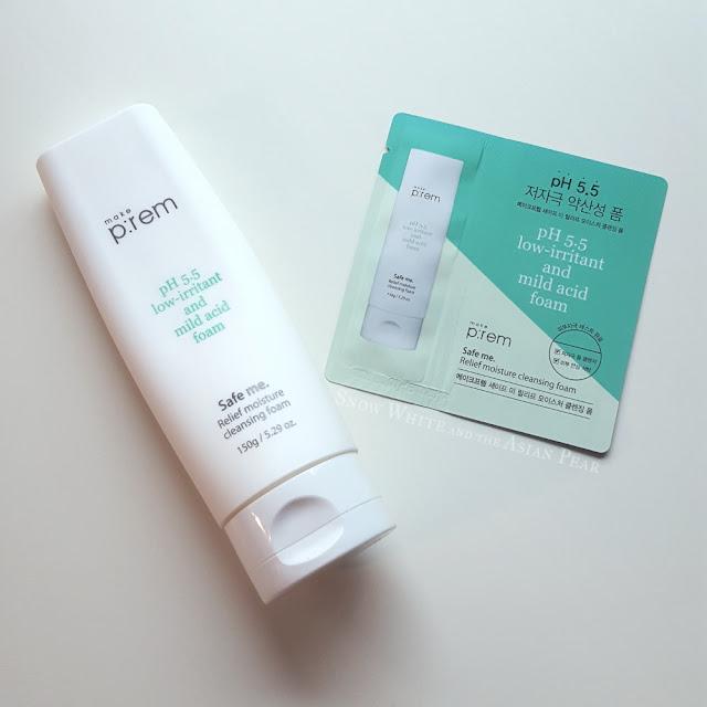 Make Prem Safe Me Relief Moisture low pH foam cleanser sample