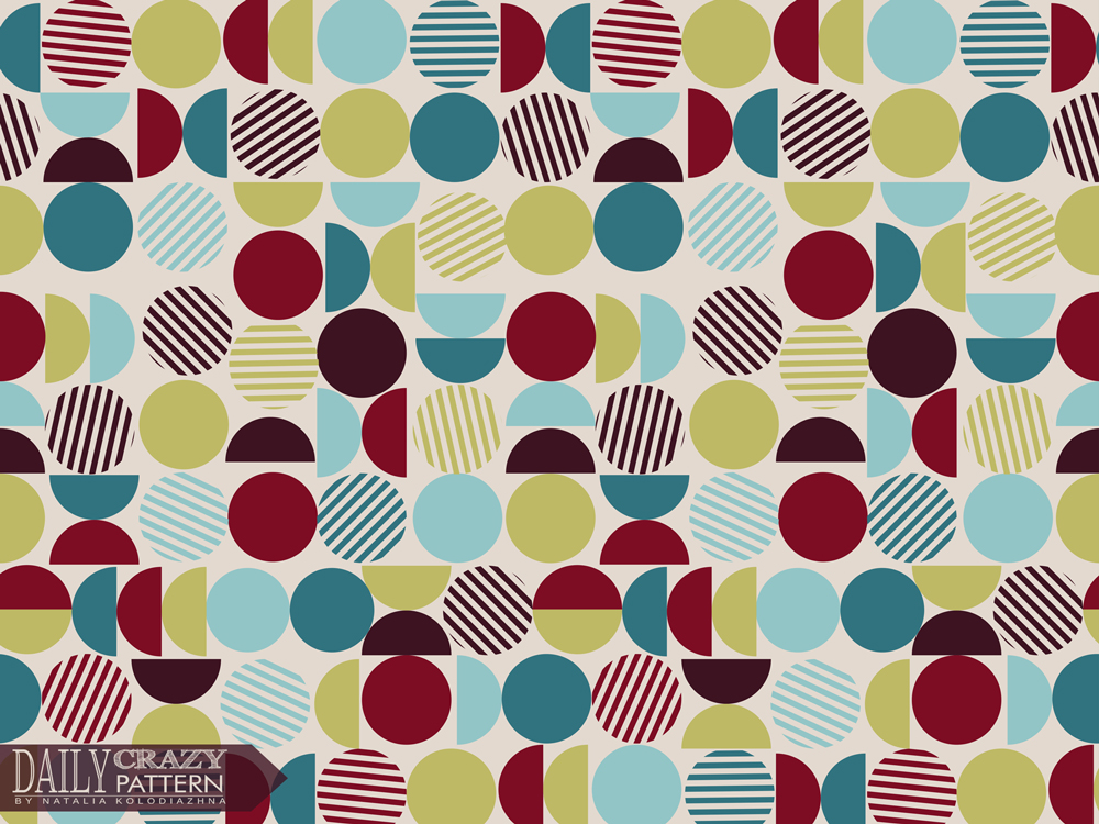 "Retro geometric art print for ""Daily Crazy Pattern"" project"