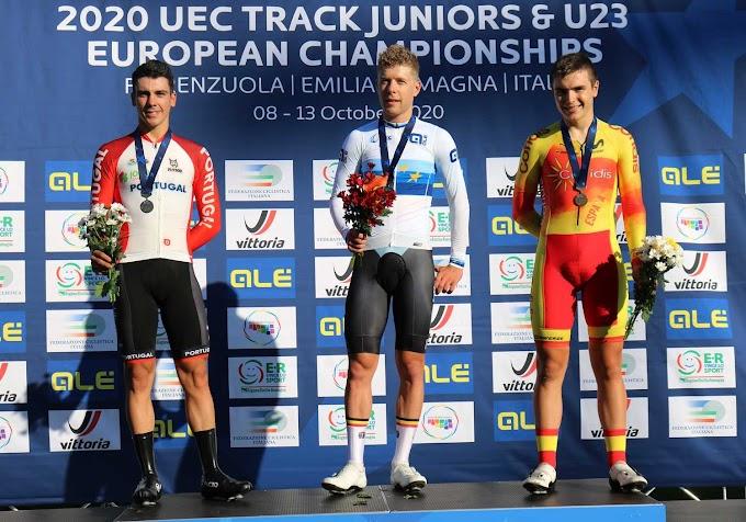 Raúl García Pierna consiguió la medalla de bronce en el Europeo de Pista
