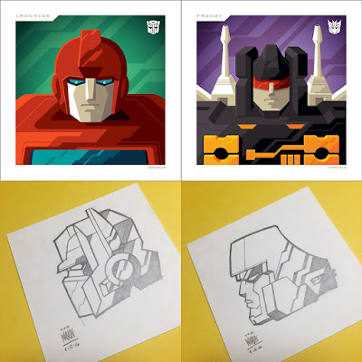 Transformers Autobots & Decepticons Mini Prints by Tom Whalen x Acidfree Gallery