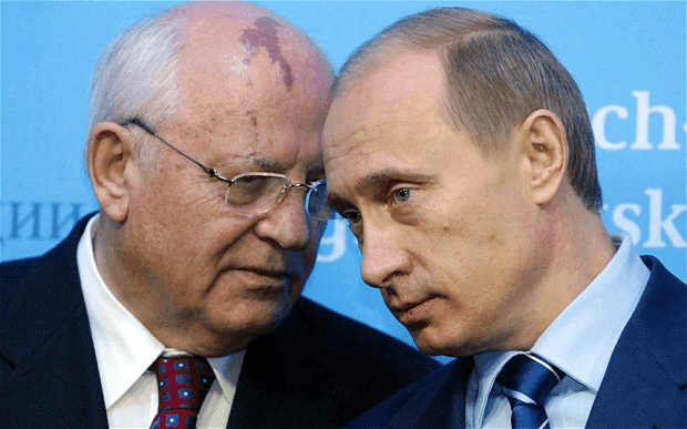 Russian Politician Mikhail Gorbachev and Putin HD Wallpapers
